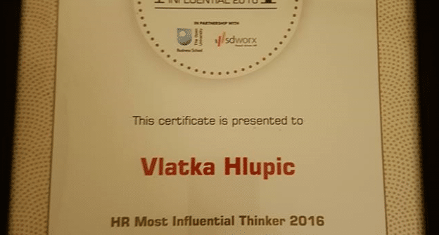 One of the Most Influential International HR Thinkers 2016