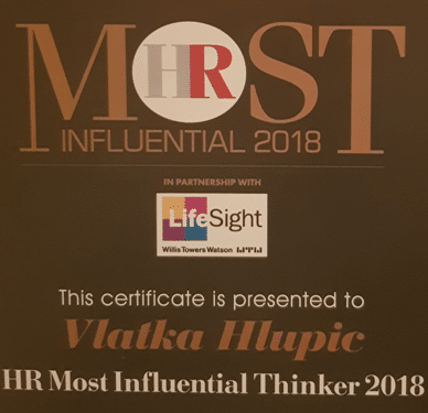 Professor Vlatka Ariaana Hlupic voted one of the Most Influential International HR Thinkers 2018 – Press release